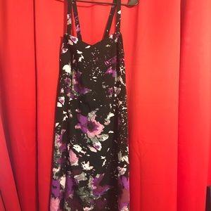Lane Bryant purple floral dress 24